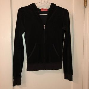 Juicy Couture terry cloth zippered hoodie Petite